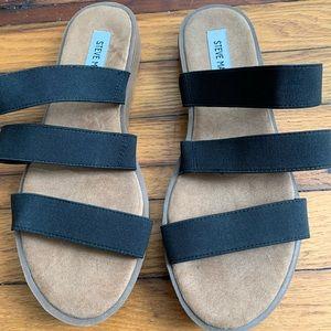 Black Steve Madden Strappy Sandal Slides